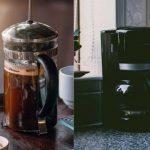 Presse française contre une cafetière goutte à goutte • Capsules Café