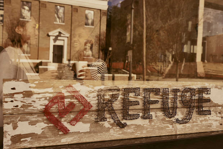 Café du refuge à l'extérieur