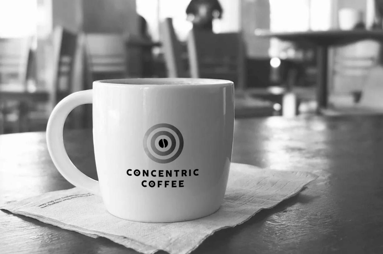 Tasse à café concentrique