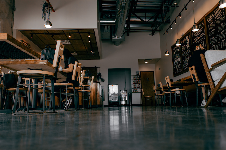 intérieur du café