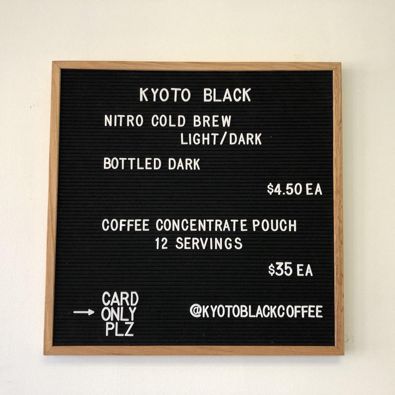 menu de café clack