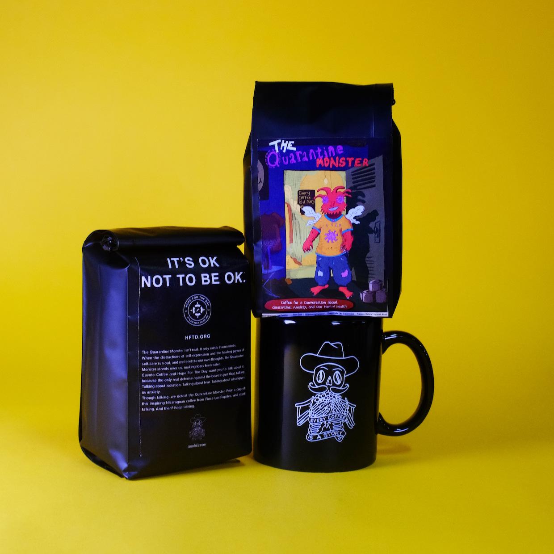 tasse à café de quarantaine