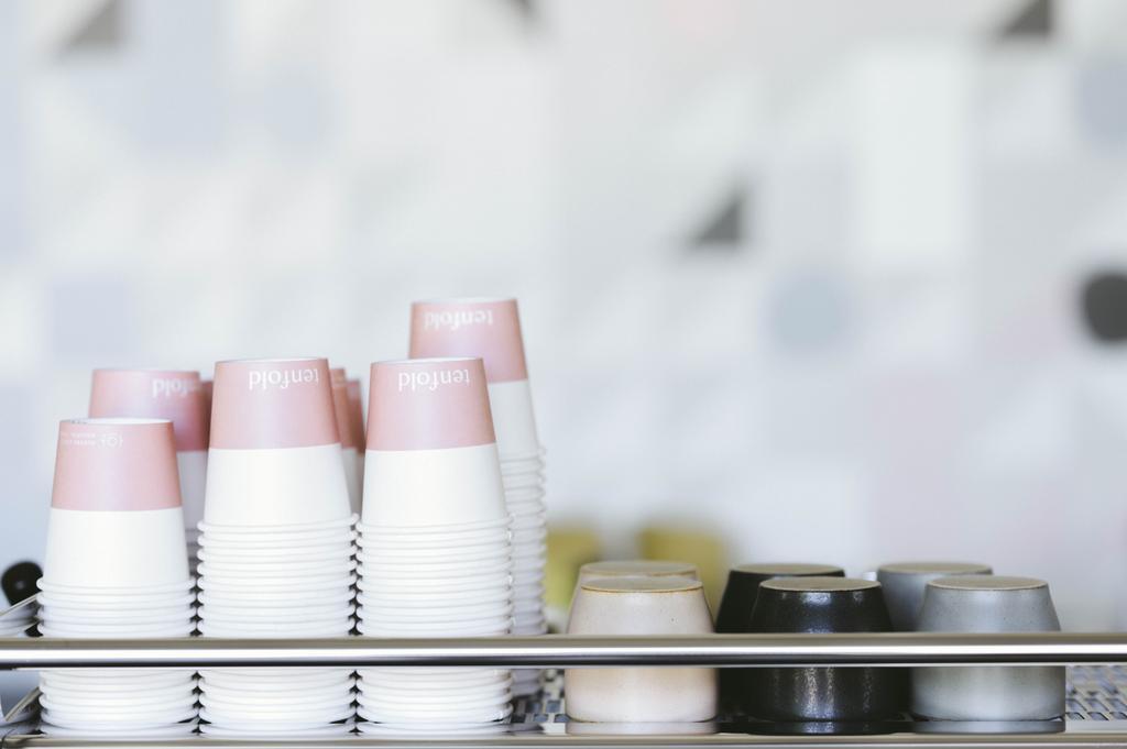 tasses à café sur expresso