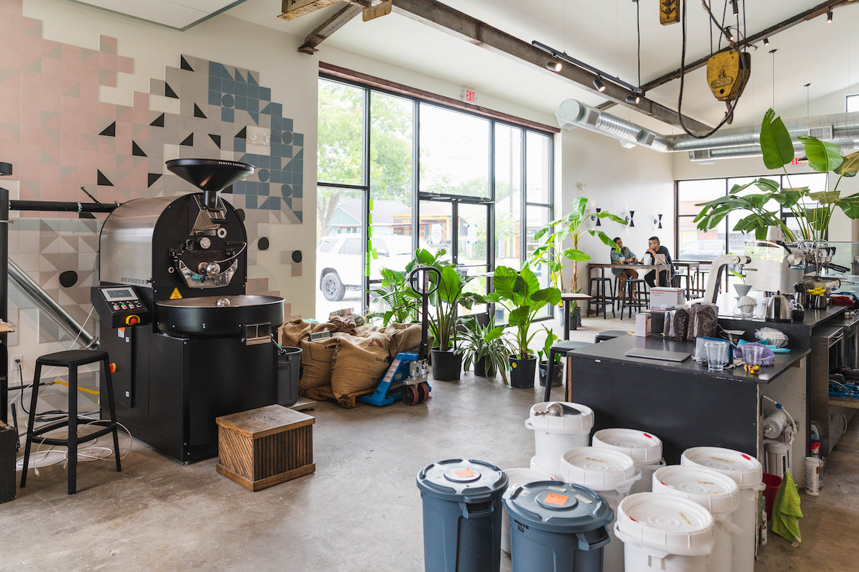 Torréfacteur de café décuplé