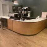 Petits germes de café de graines avec Roastery Cafe à Middlebury, Vermont